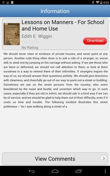 Must-Read Etiquette Books apk screenshot