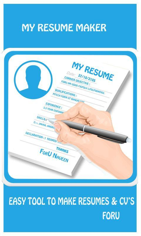 my resume maker poster