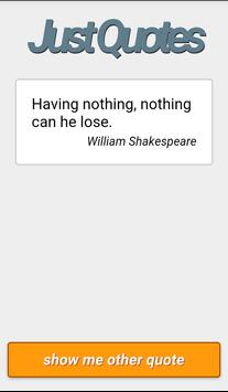 Just Quotes - Famous quotes apk screenshot