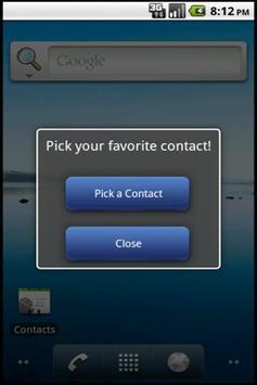 Quick Contact Widget Lite apk screenshot