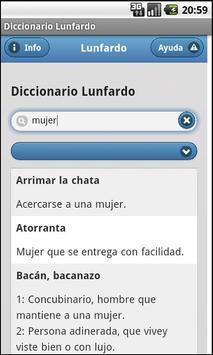 Diccionario Lunfardo poster