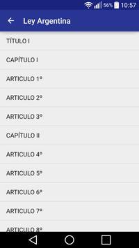Ley Argentina apk screenshot