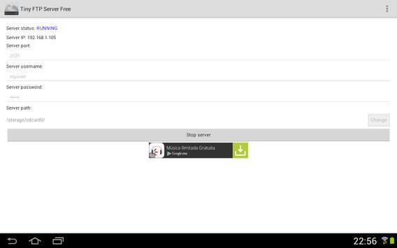 Tiny FTP Server Free apk screenshot