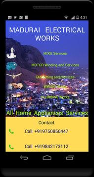 Madurai Electrical Works -Call poster