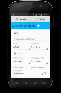 Swift Shift - Work Calendar apk screenshot