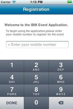 IBM Event App poster