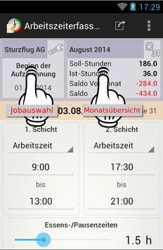 Arbeitszeiterfassung apk screenshot