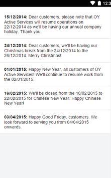 O Y Active Services apk screenshot
