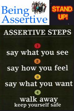 Assertiveness Stand Up Guide poster