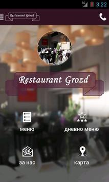 Restaurant Grozd poster