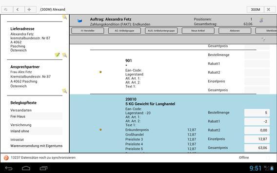 BITS mobile ERP für Mesonic apk screenshot