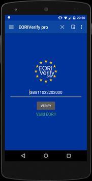 EORI Verify pro apk screenshot