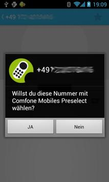 Comfonetel Mobile Preselection apk screenshot