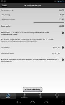 SV- und Steuer-Rechner apk screenshot