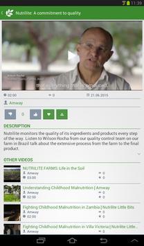 Amway Nutrilite Video apk screenshot