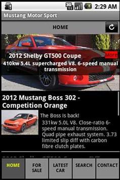 Mustang Motorsport Free poster