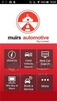 Muirs Automotive Holden poster