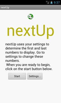 nextUp Sign Board poster