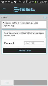 e-Ticket Lead Capture App poster
