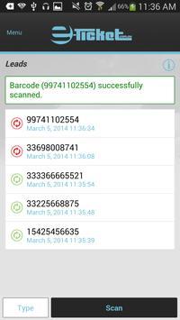 e-Ticket Lead Capture App apk screenshot
