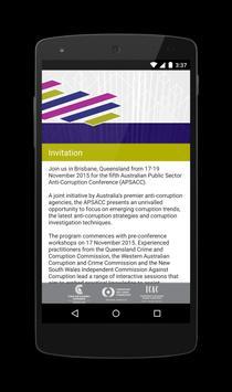 APSAC Conference apk screenshot