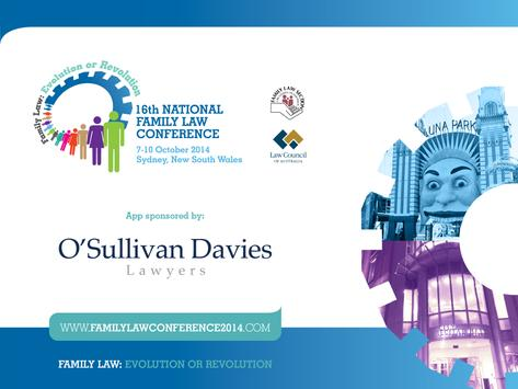 National Family Law Conference poster