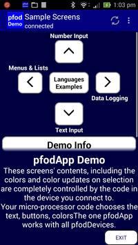 pfodApp Demo V2 poster