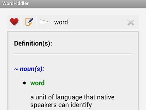 WordFiddler apk screenshot