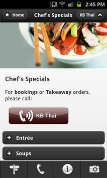 KB Thai Restaurant apk screenshot