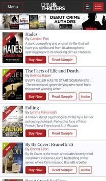 Crime & Thrillers Books apk screenshot