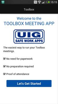 UIG Toolbox Meetings poster