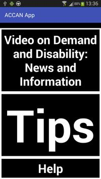 ACCAN: Accessing Video Advice poster