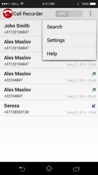 Hidden Auto Call Recorder apk screenshot