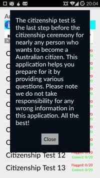 Australian Citizen Test 2017 apk screenshot