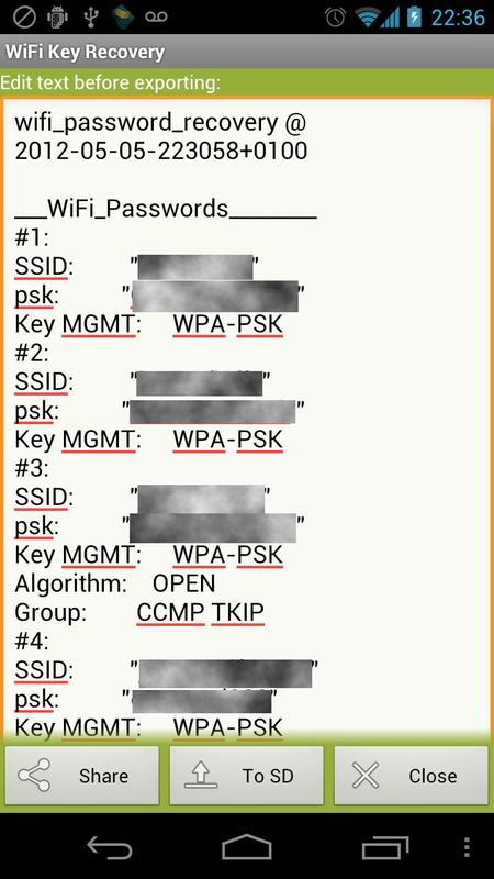 WiFi Key Recovery (needs root) APK Download - Free Tools ...