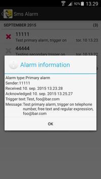 Sms Alarm apk screenshot
