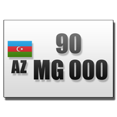 Car numbers of Azerbaijan icon