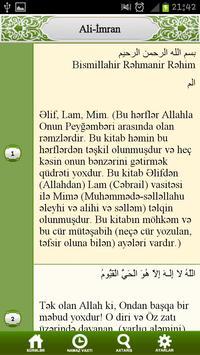 Quran Azerbaijan apk screenshot