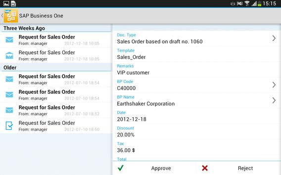 SAP Business One apk screenshot