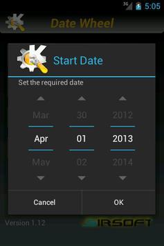 Date Wheel Calc Free apk screenshot