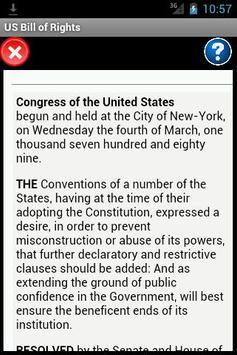US Bill of Rights Reader poster