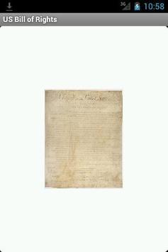 US Bill of Rights Reader apk screenshot