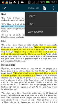 Yoruba Offline Bible apk screenshot