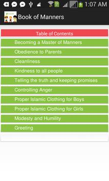 Book of Manners apk screenshot