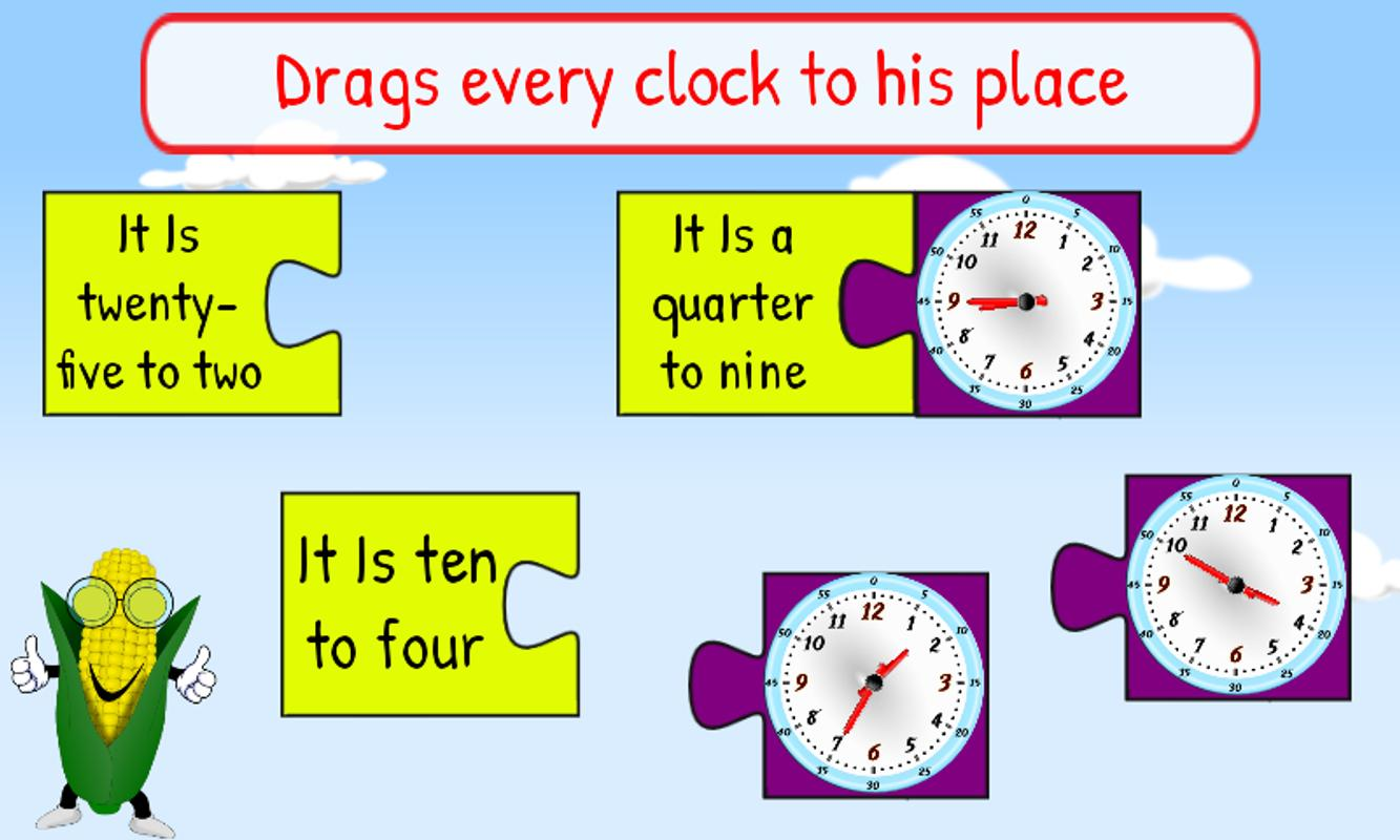 Free Interactive Clock & Time Games for Kids