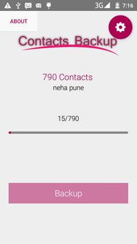 Full Contacts Backup apk screenshot
