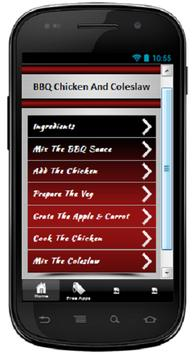 BBQ Chicken And Coleslaw poster