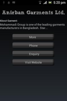 Garment Directory apk screenshot