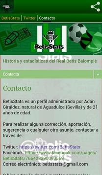 BetisStats apk screenshot