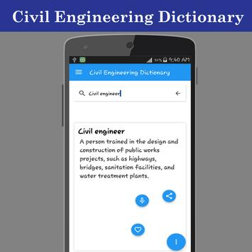 Civil Engineering Dictionary apk screenshot